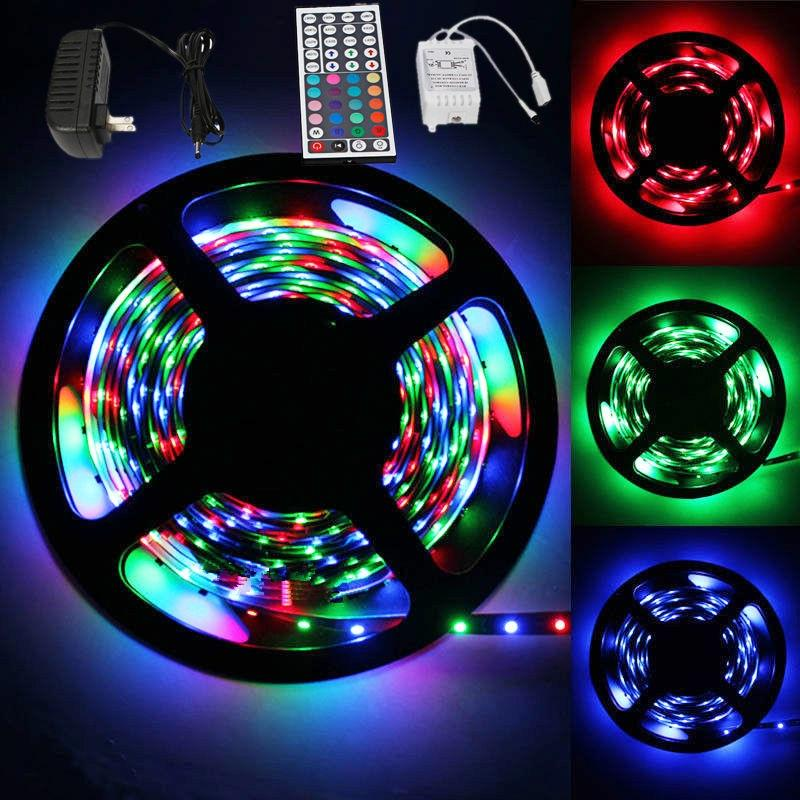 5M 12V Waterproof 300 LED RGB Strip Light 3528 SMD String Ribbon Tape Roll