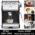 Automatic DL-KF500S Semi Coffee Maker Barista Espresso Machine Steam Home Use Steam Frothing