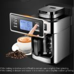 Automatic Espresso Coffee Machine Americano Maker 220V/110V with Bean Grinder and Milk Frother