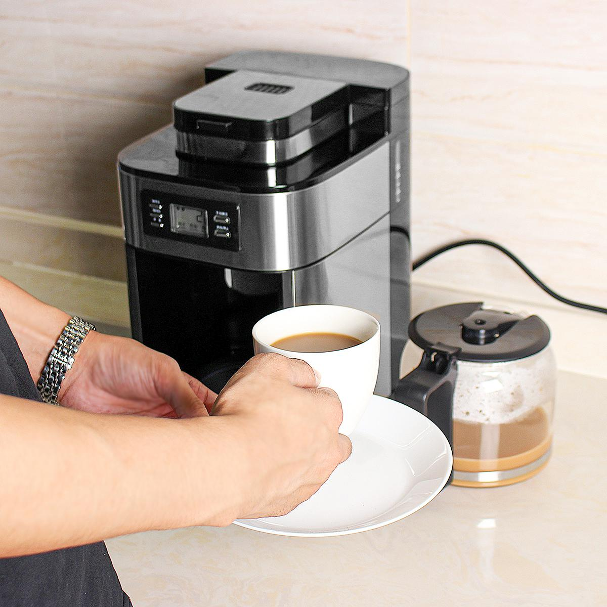 Electric Coffee Maker Machine Household Fully-Automatic Drip Coffee Maker 1200ml Tea Coffee Pot Home Kitchen Appliance