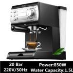 20BAR Coffee Maker Machine Espresso Cup Semiautomatic Household Milk Foam Double Temperature Control