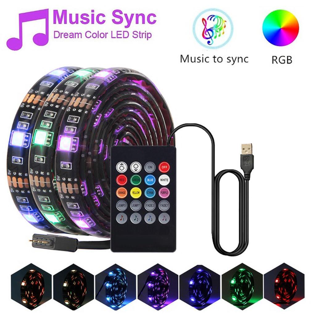 0.3/0.5/1/2/3M Waterproof LED Strip Lights with Music LED Lights Strip RGB Waterproof LED Strip