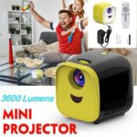 Portable Mini Projector 3600 Lumens Support 1080p Full HD Movie Playback Projector Home Theater Entertainment Device
