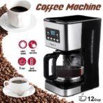 12 Cups Coffee Machine Semi-Automatic Steam For Espresso Cappuccino Coffee Maker