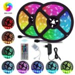 2/3/4/5M SMD3528 RGB LED Strip Flexible Light 44-Key Remote Control with 12V Adapter