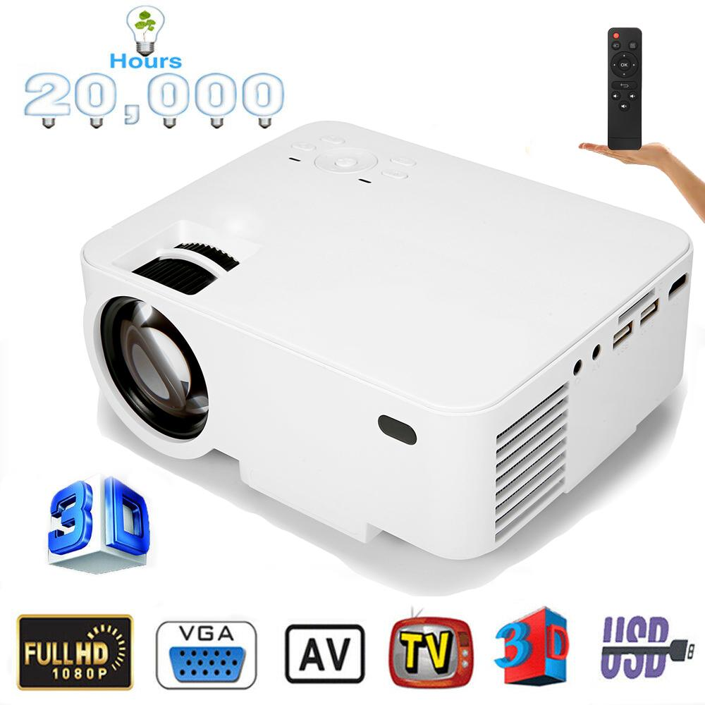 AUGIENB HD 10000 Lumens Projector with Synchronize Phone Screen Compatible with Fire TV Stick/HDMI
