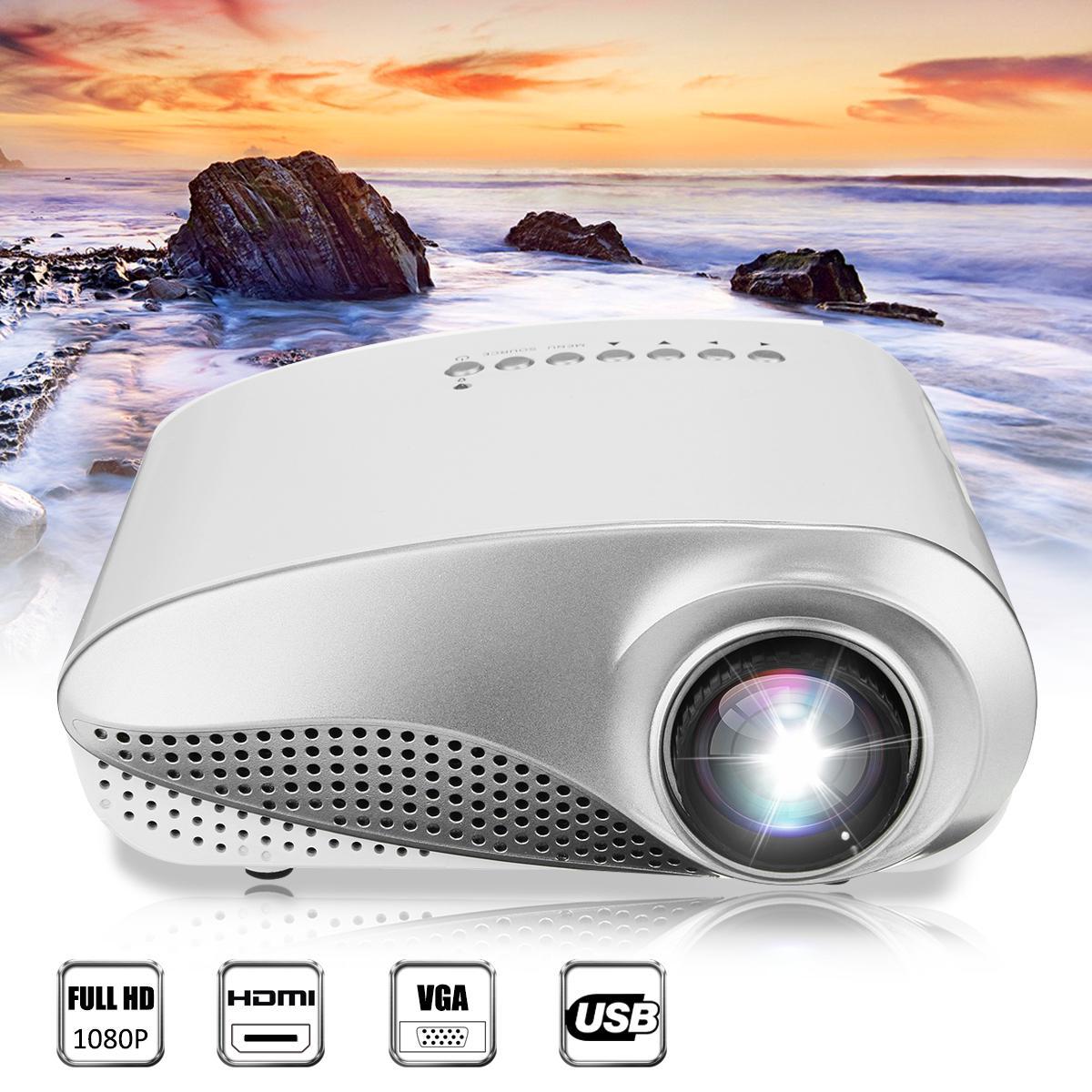 Portable Mini Projector LED 1080P Full HD 3D Multimedia For Home Theater Player HDMI VGA/ AV USB TV