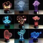 3D Visual Illusion Night Light LED 7 Colors Changing Touch Table Lamp Best Gift