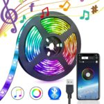 5050 RGB LED Strip Lights Control Tape Home Flexible Strip Backlight Bluetooth APP Remote Music
