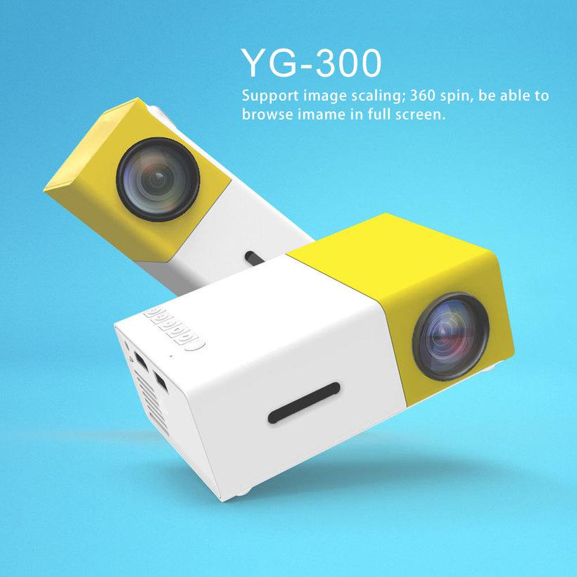 Projector AMA J9 HD Mini Projector Colorful LCD YS VS YG-300